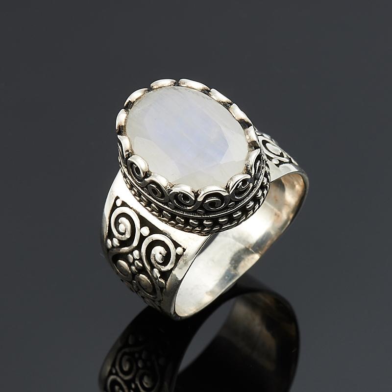 Кольцо лунный камень  огранка (серебро 925 пр.) размер 18