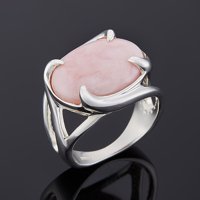 Кольцо опал розовый Перу (серебро 925 пр.) размер 18
