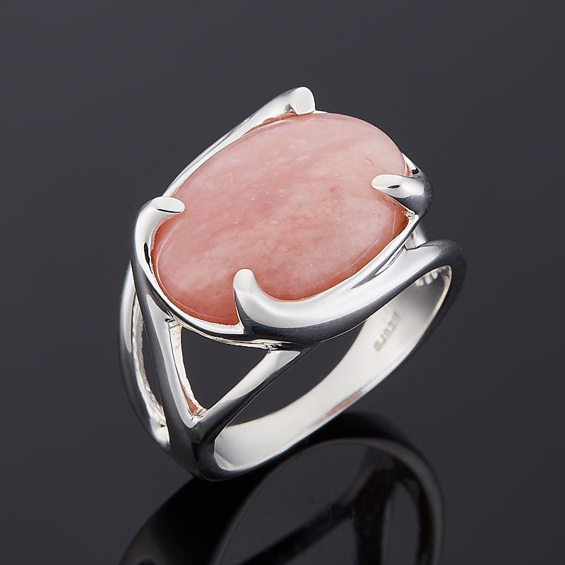 Кольцо опал розовый  (серебро 925 пр.) размер 19