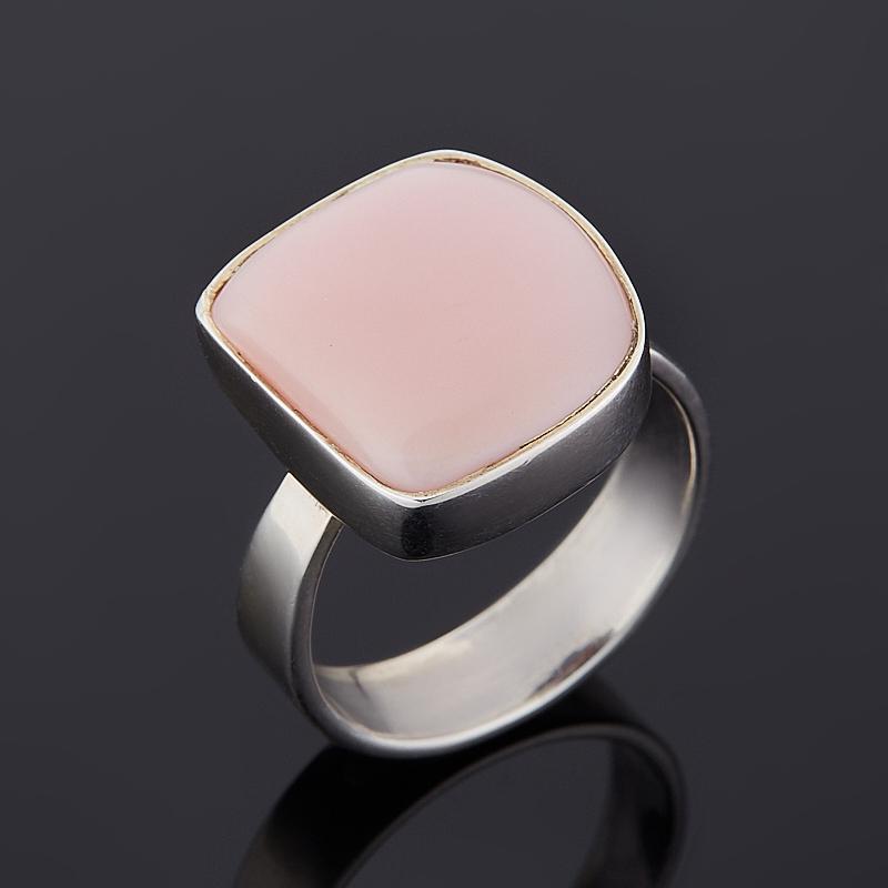 Кольцо опал розовый  (серебро 925 пр.) размер 17