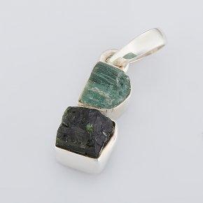 Кулон турмалин зеленый (верделит) Бразилия (серебро 925 пр.)