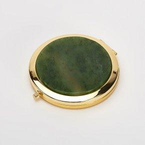 Зеркало нефрит зеленый Россия 7,5 см