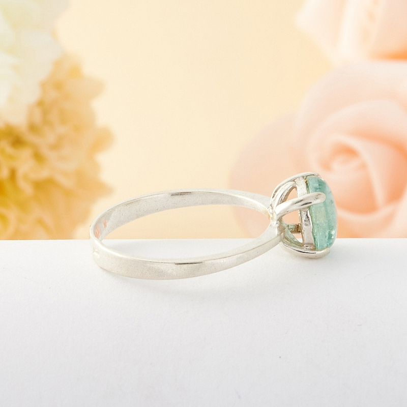 [del] Кольцо голубой турмалин Мадагаскар (серебро) размер 19,5
