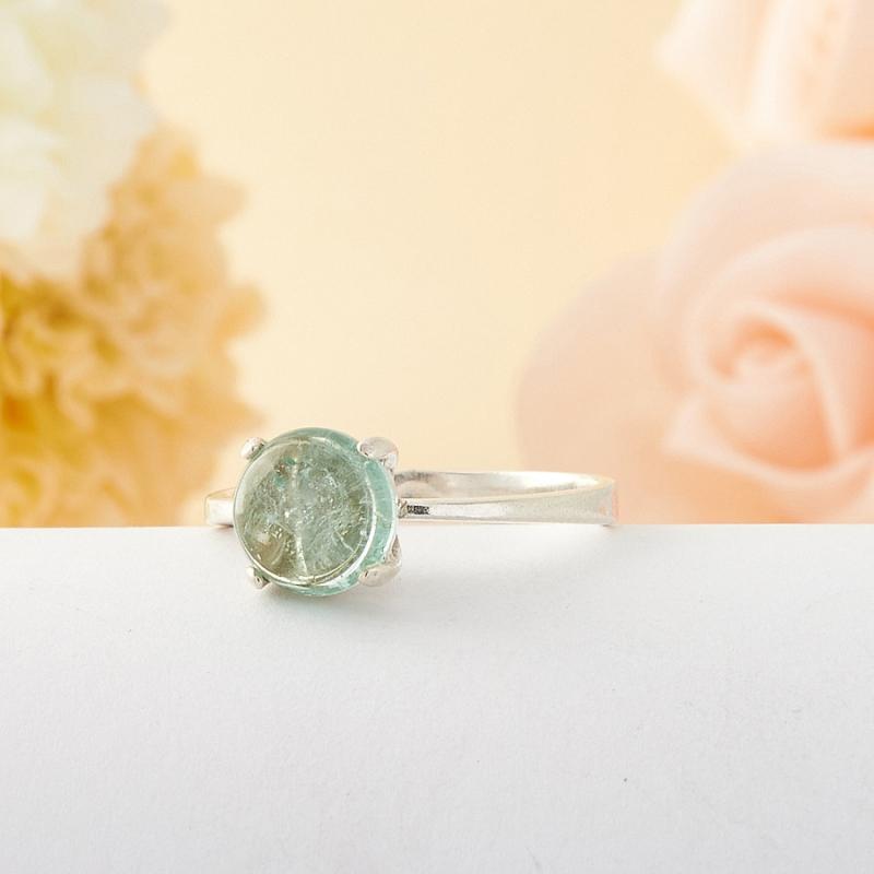 [del] Кольцо голубой турмалин Мадагаскар (серебро) размер 20