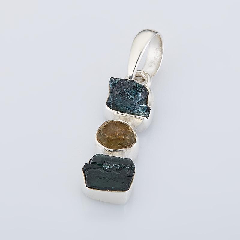 Кулон турмалин  (серебро 925 пр.)