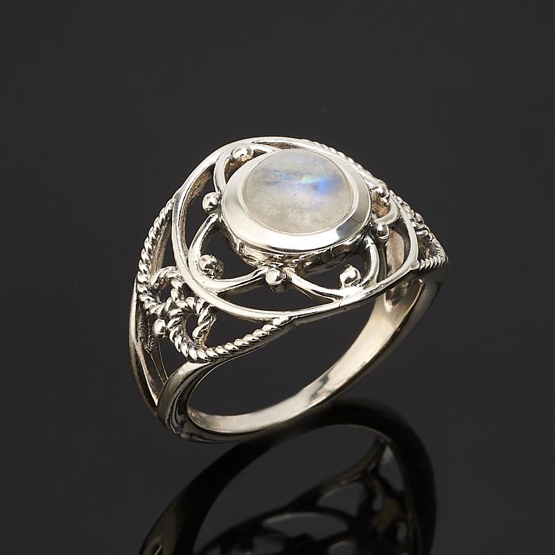Кольцо лунный камень  (серебро 925 пр.) размер 16