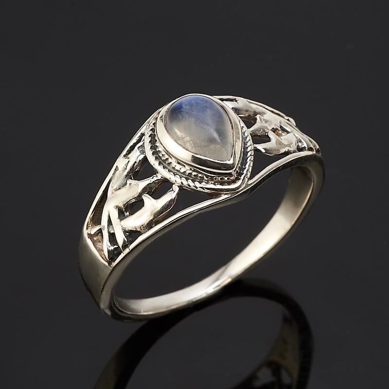 Кольцо лунный камень  (серебро 925 пр.) размер 18