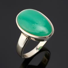 Кольцо хризопраз Австралия (серебро 925 пр.) размер 19,5