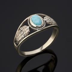 Кольцо ларимар Доминиканская Республика (серебро 925 пр.) размер 17,5
