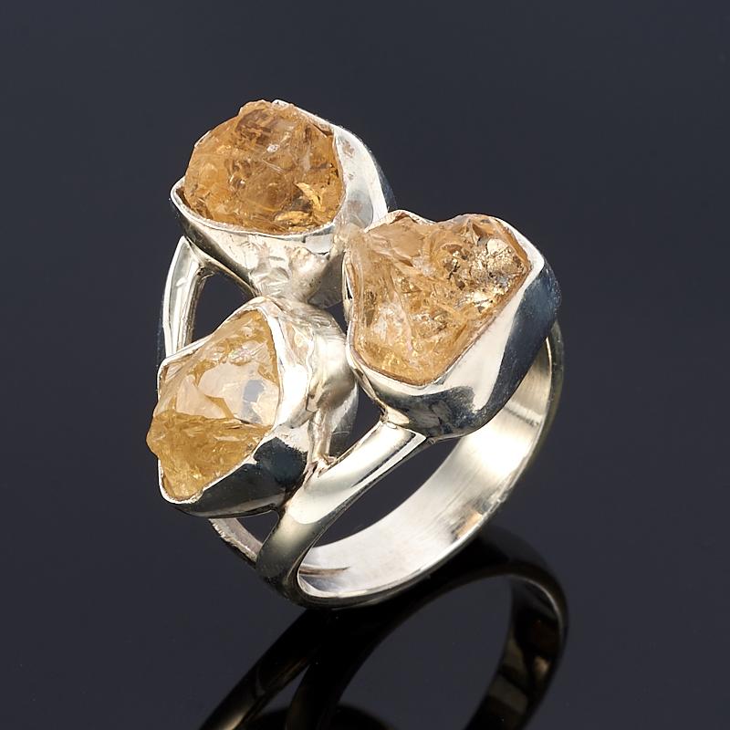Кольцо цитрин  (серебро 925 пр.) размер 17