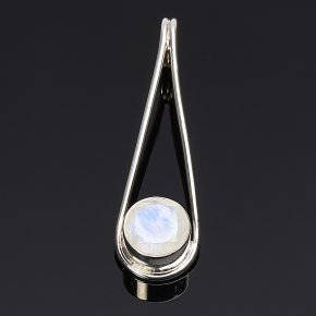 Кулон лунный камень Индия огранка (серебро 925 пр.)