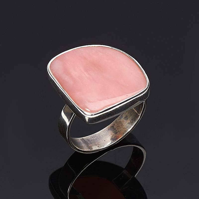 Кольцо опал розовый  (серебро 925 пр.) размер 18,5
