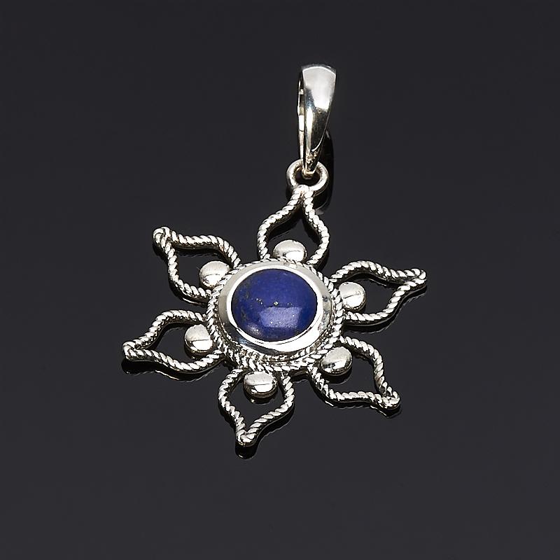 Кулон лазурит  цветок (серебро 925 пр.)