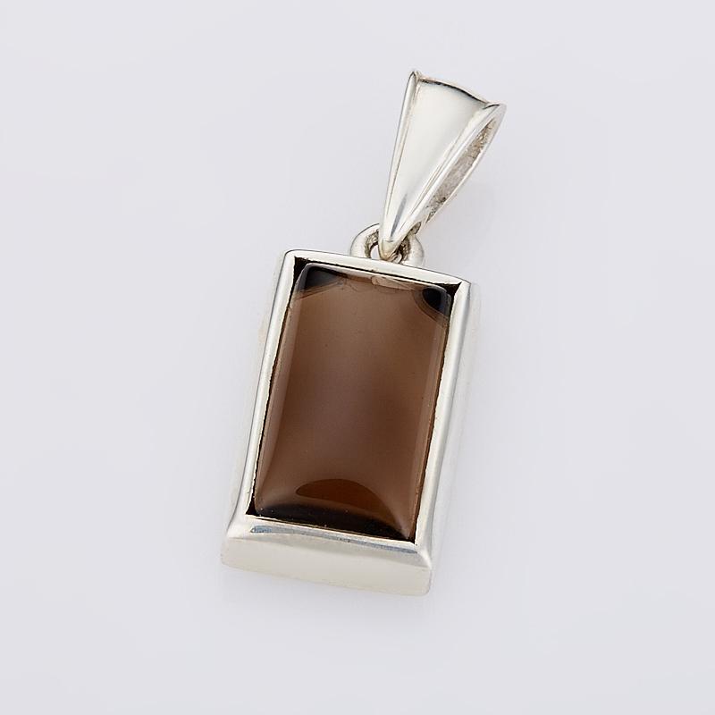 Кулон раухтопаз прямоугольник (серебро 925 пр.) цена