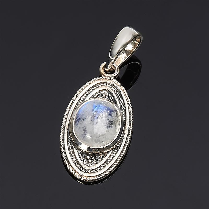 Кулон лунный камень  овал (серебро 925 пр.)