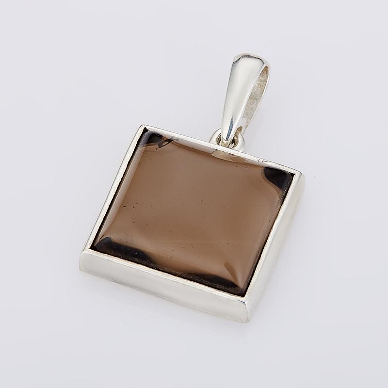 Кулон раухтопаз квадрат (серебро 925 пр.) цена и фото