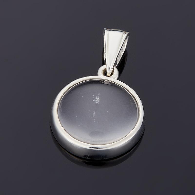 Кулон горный хрусталь  круг (серебро 925 пр.)