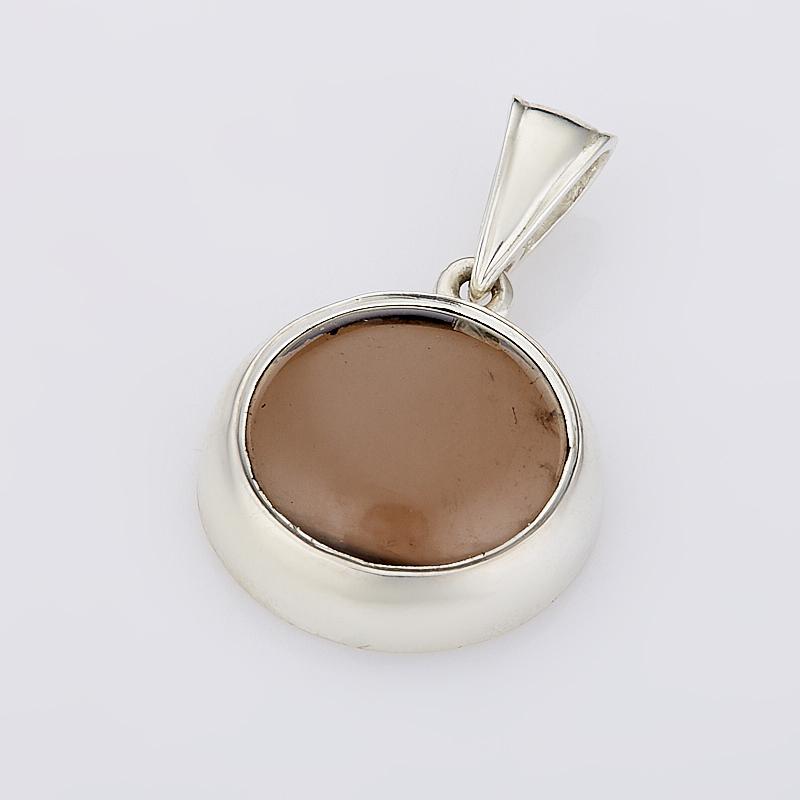 Кулон раухтопаз  круг (серебро 925 пр.)