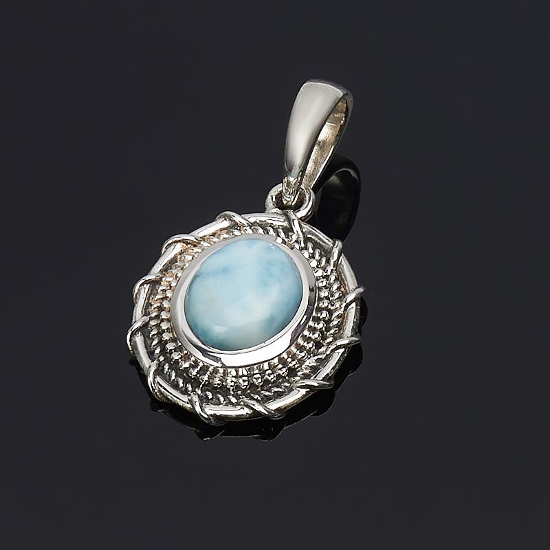 Кулон ларимар нская Республика овал (серебро 925 пр.)