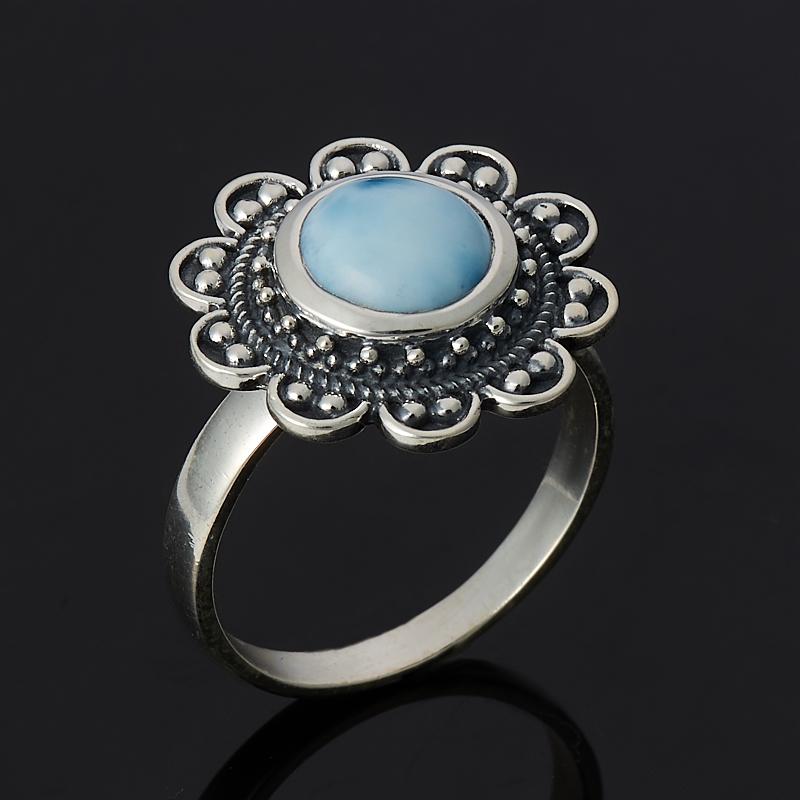 Кольцо ларимар нская Республика (серебро 925 пр.) размер 18,5