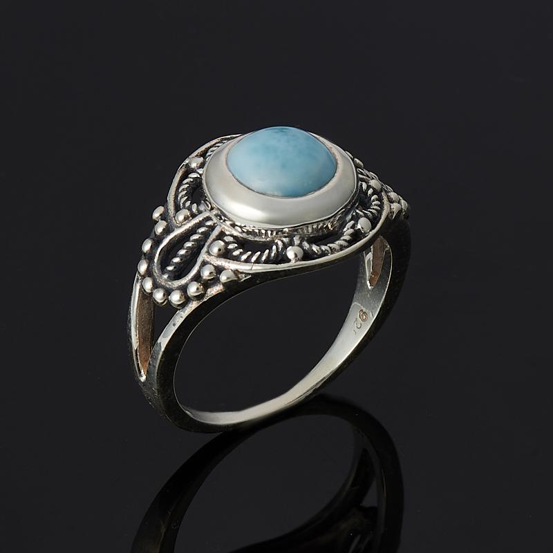 Кольцо ларимар нская Республика (серебро 925 пр.) размер 17