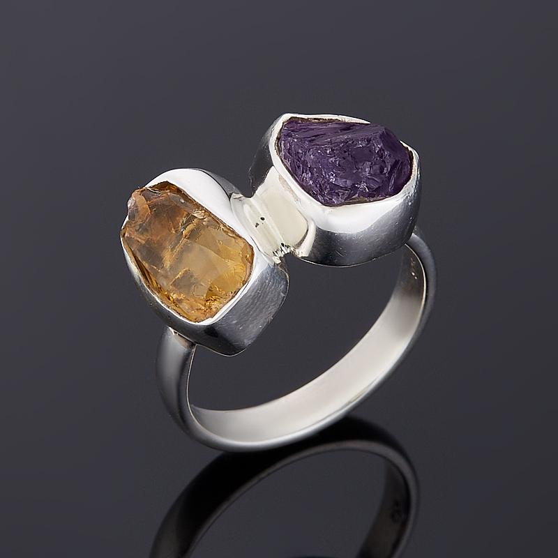 Кольцо аметист, цитрин (серебро 925 пр.) размер 17,5 кольцо цитрин серебро 925 пр золото 585 пр размер 19 5