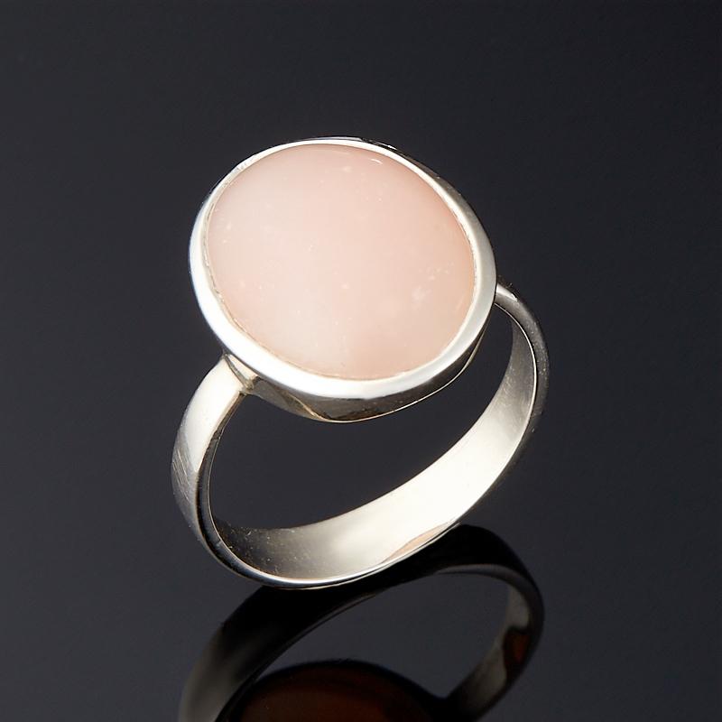 Кольцо опал розовый  (серебро 925 пр.) размер 17,5