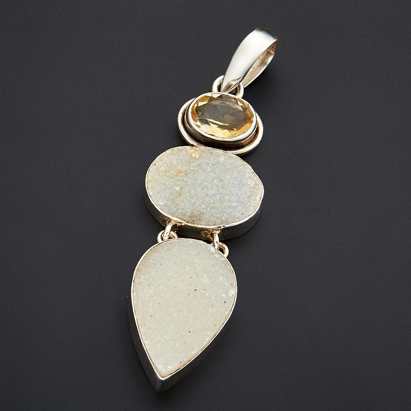 Кулон щетка кварц (серебро 925 пр.) кулон щетка кварц 5 7 см