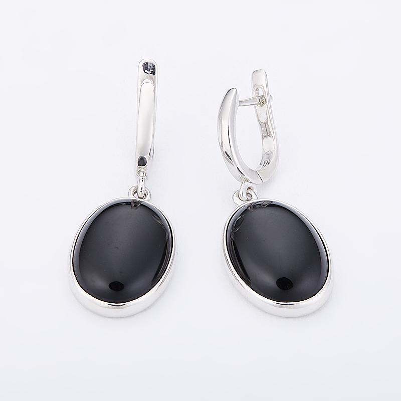 Серьги агат черный (серебро 925 пр.) серьги агат серый серебро 925 пр