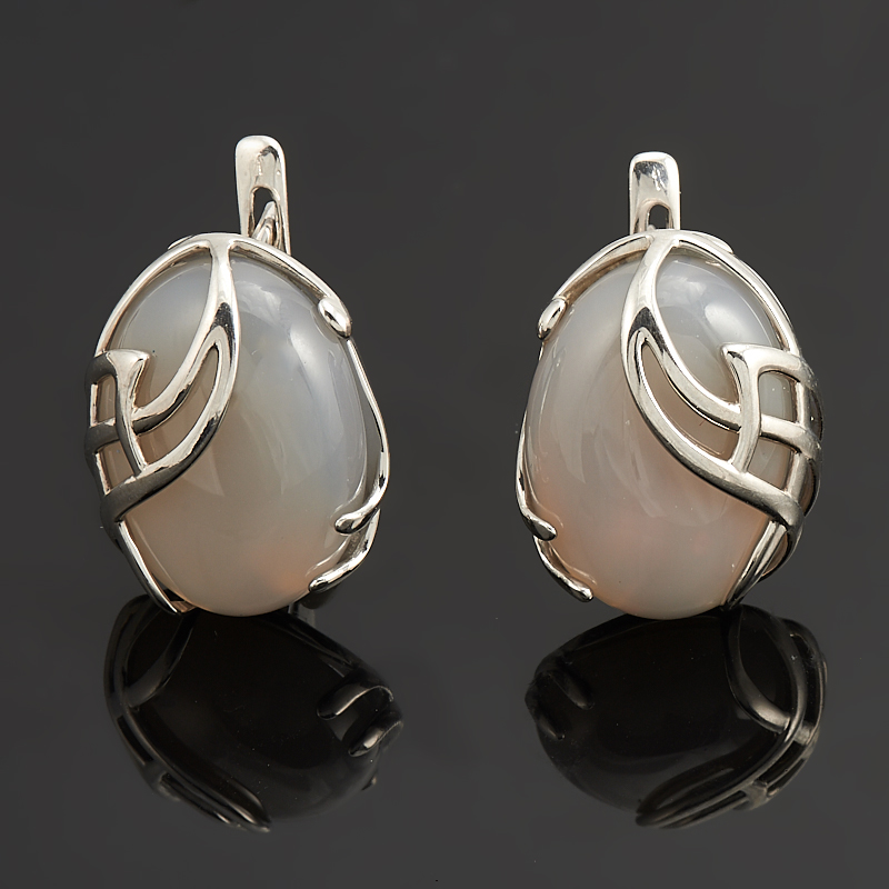 Серьги агат серый (серебро 925 пр.) серьги агат серый серебро 925 пр