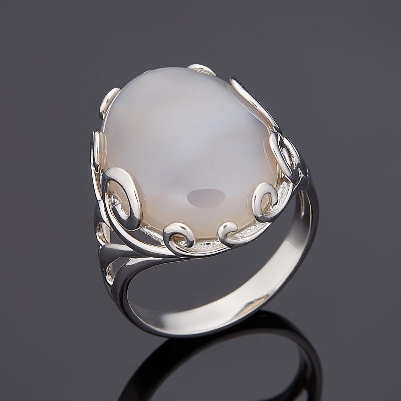 Кольцо агат серый (серебро 925 пр.) размер 18,5 серьги агат серый серебро 925 пр