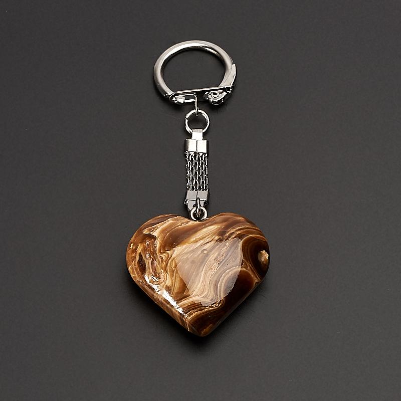Брелок сердце оникс мраморный 3,5 см брелок be happy диамантовое сердце super star