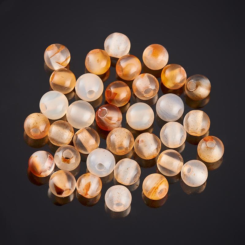 Бусина сердолик светлый шарик 6-6,5 мм (1 шт) бусина агат серый шарик 6 5 мм 1 шт