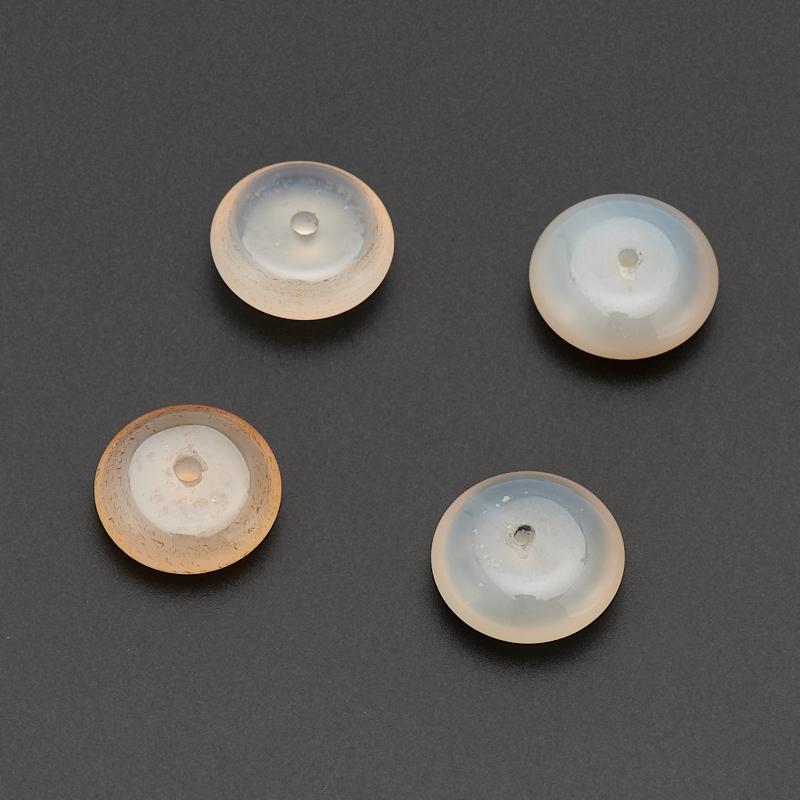 Бусина агат серый  сплюснутый шар 6-6,5 мм (1 шт)