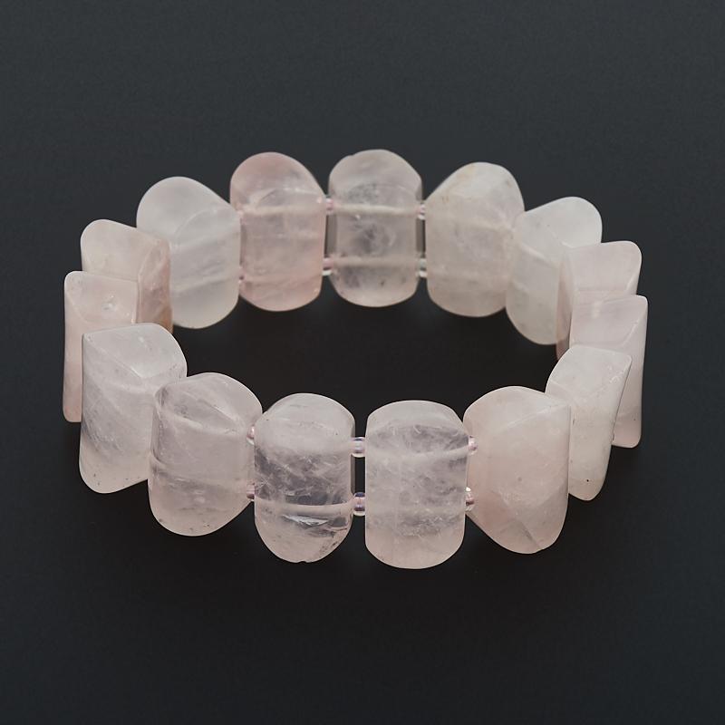Браслет розовый кварц 16 см камни istone двенадцать созвездий овна кварц розовый кварц браслет