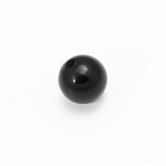 Бусина агат черный Бразилия шарик 6-6,5 мм (1 шт)