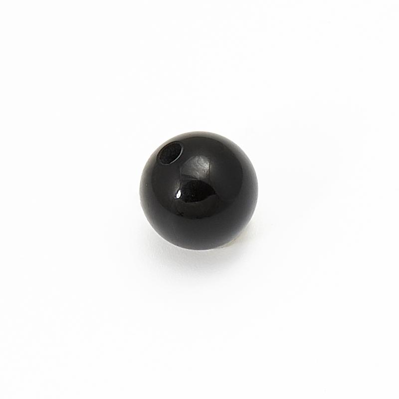 Бусина агат черный шарик 6,5 мм (1 шт) бусина агат серый шарик 6 5 мм 1 шт
