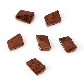 Бусина обсидиан коричневый Армения 13*17 мм (1 шт)