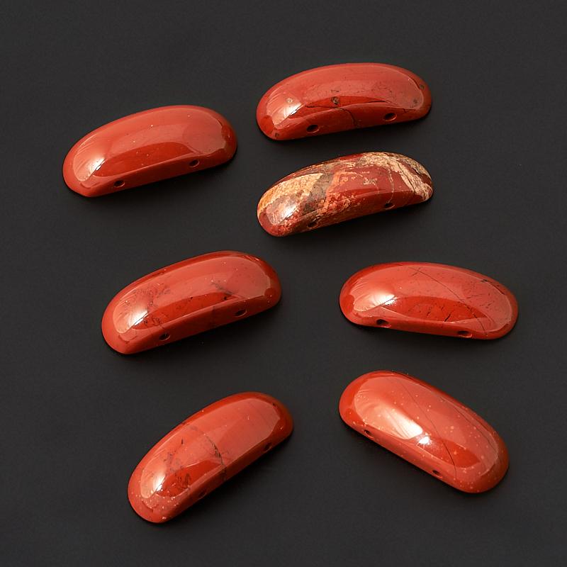 Бусина яшма красная овал 9*25 мм (1 шт) tnl кристаллы овал 1 темно желтые 10 шт
