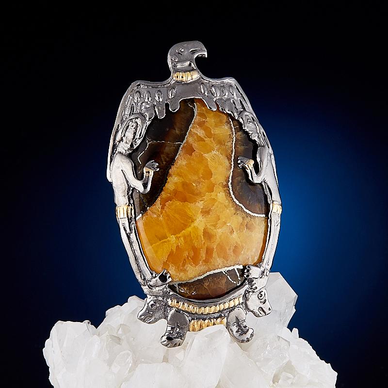 Кулон симбирцит (серебро 925 пр., позолота)