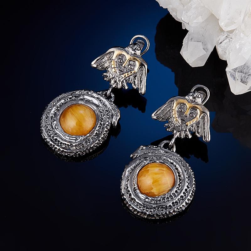 Серьги симбирцит (серебро 925 пр., позолота) серьги висячие oem 925 925 czkalqra fpuaohba e051 earring