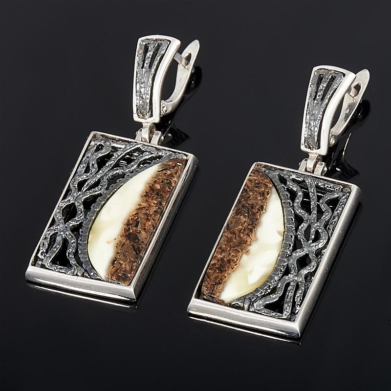 Серьги янтарь (серебро 925 пр.) серьги danny jewelry 925