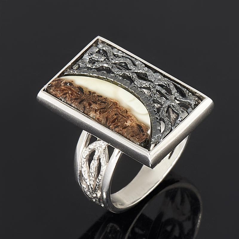 Кольцо янтарь  (серебро 925 пр.) размер регулируемый