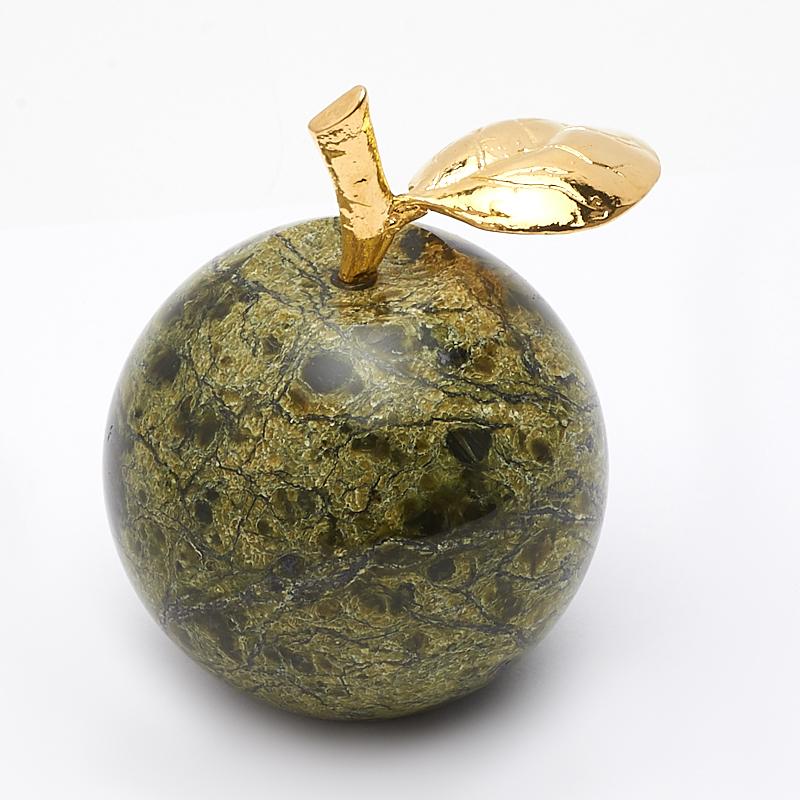Яблоко змеевик 5х6,5 см цена и фото