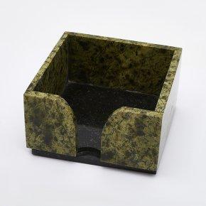Подставка под блок бумаги змеевик Россия 10х10 см