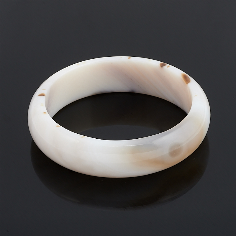 Браслет агат белый 19 см