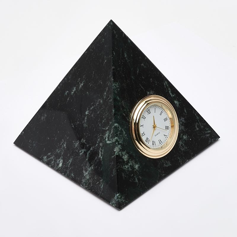 Часы пирамида змеевик 10х11 см цена и фото