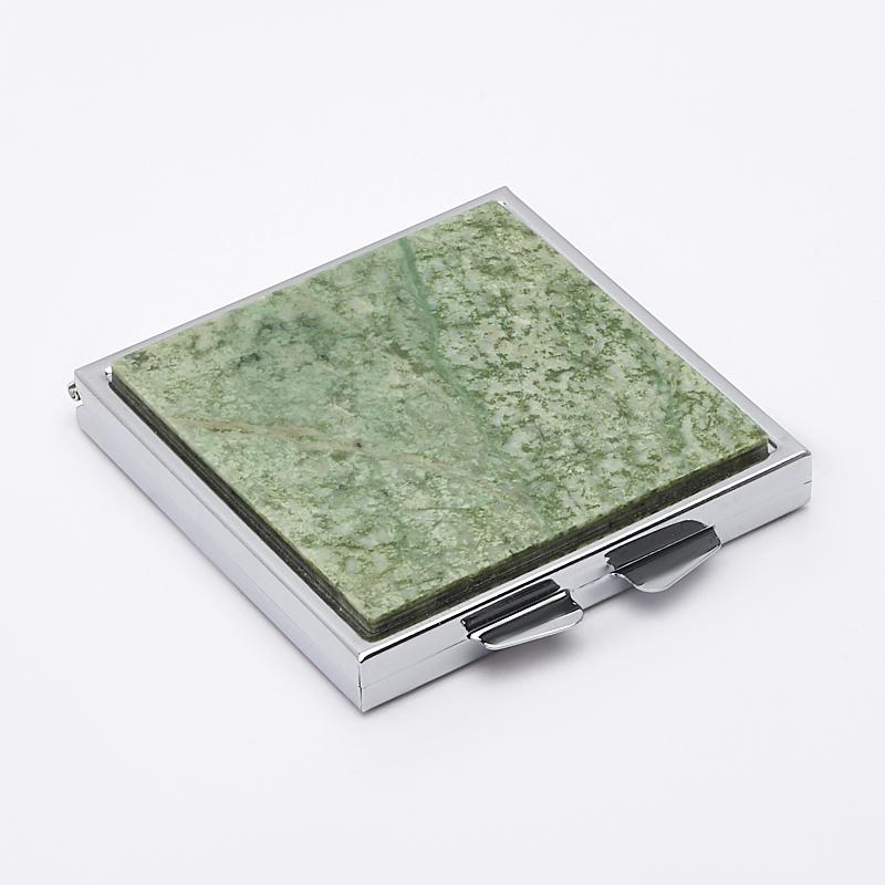 Зеркало жадеит 6х6 см сруб для бани 6х6