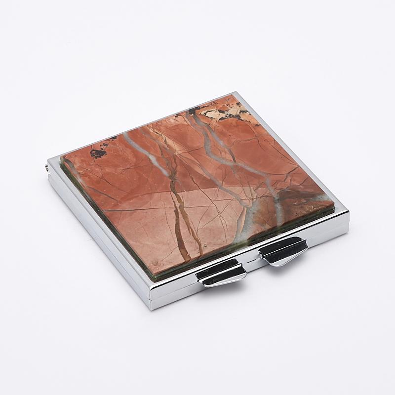 Зеркало яшма уральская 6х6 см сруб для бани 6х6