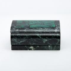 Шкатулка змеевик, малахит 10х6,5х4,5 см